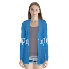 Simple Feature Blue Cardigans