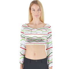 Rope Pitha Long Sleeve Crop Top