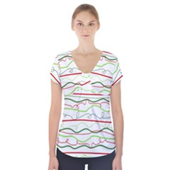 Rope Pitha Short Sleeve Front Detail Top