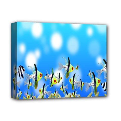 Pisces Underwater World Fairy Tale Deluxe Canvas 14  x 11