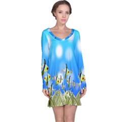 Pisces Underwater World Fairy Tale Long Sleeve Nightdress