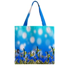 Pisces Underwater World Fairy Tale Zipper Grocery Tote Bag