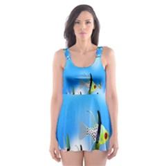 Pisces Underwater World Fairy Tale Skater Dress Swimsuit