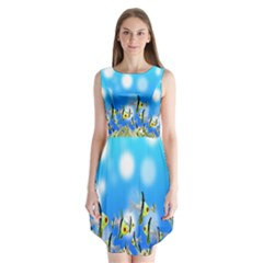 Pisces Underwater World Fairy Tale Sleeveless Chiffon Dress