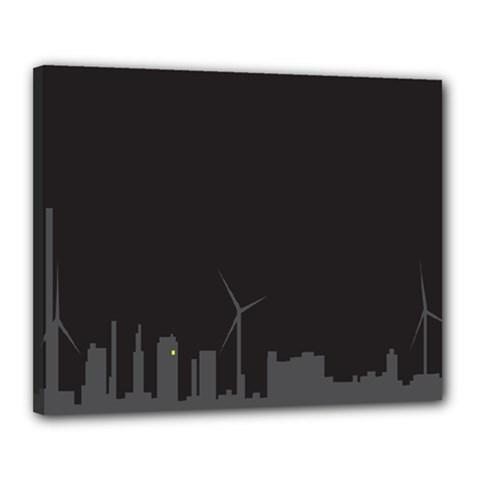 Windmild City Building Grey Canvas 20  x 16