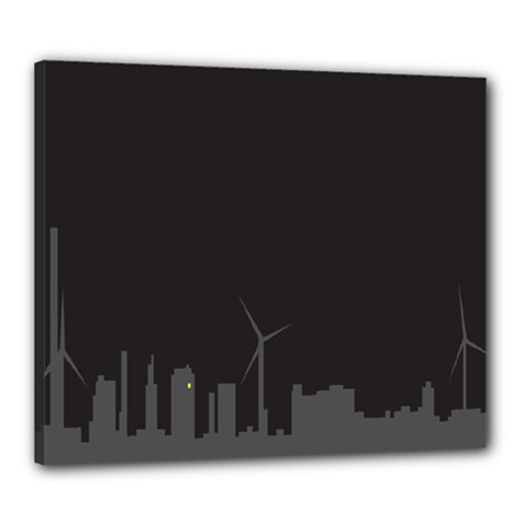Windmild City Building Grey Canvas 24  x 20