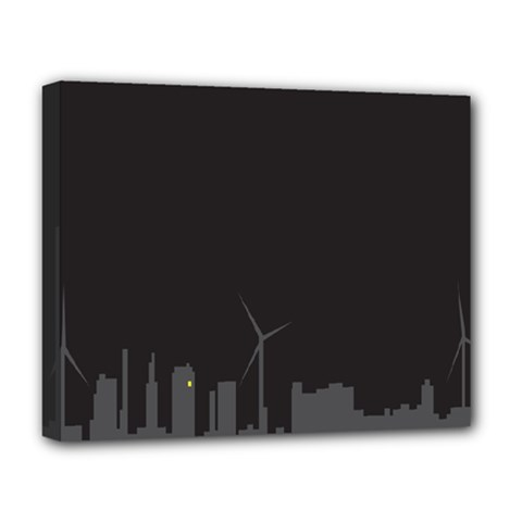 Windmild City Building Grey Deluxe Canvas 20  x 16