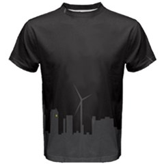 Windmild City Building Grey Men s Cotton Tee