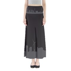 Windmild City Building Grey Maxi Skirts