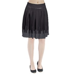 Windmild City Building Grey Pleated Skirt