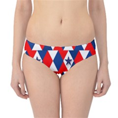 Patriotic Red White Blue 3d Stars Hipster Bikini Bottoms