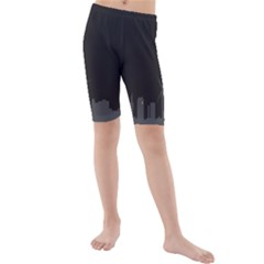 Windmild City Building Grey Kids  Mid Length Swim Shorts