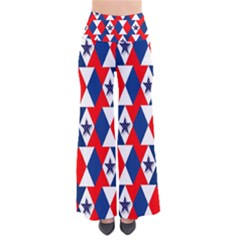 Patriotic Red White Blue 3d Stars Pants