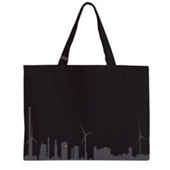 Windmild City Building Grey Large Tote Bag