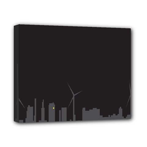 Windmild City Building Grey Canvas 10  x 8