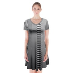 Semi Authentic Screen Tone Gradient Pack Short Sleeve V-neck Flare Dress