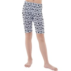 Skulls Face Mask Bone Cloud Rain Kids  Mid Length Swim Shorts