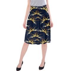Pearly Pattern Midi Beach Skirt