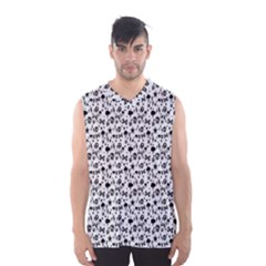 Skulls Face Mask Bone Cloud Rain Men s Basketball Tank Top