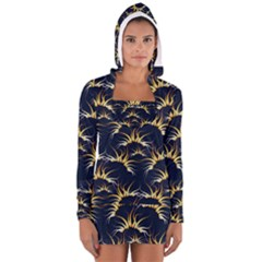Pearly Pattern Women s Long Sleeve Hooded T-shirt