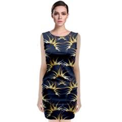 Pearly Pattern Classic Sleeveless Midi Dress