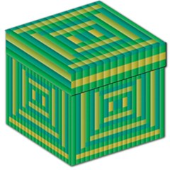 Pattern Grid Squares Texture Storage Stool 12