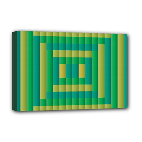 Pattern Grid Squares Texture Deluxe Canvas 18  x 12