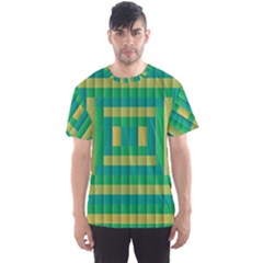 Pattern Grid Squares Texture Men s Sport Mesh Tee