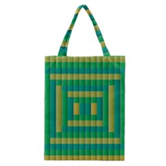 Pattern Grid Squares Texture Classic Tote Bag