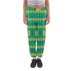 Pattern Grid Squares Texture Women s Jogger Sweatpants