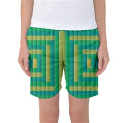 Pattern Grid Squares Texture Women s Basketball Shorts