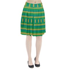 Pattern Grid Squares Texture Pleated Skirt
