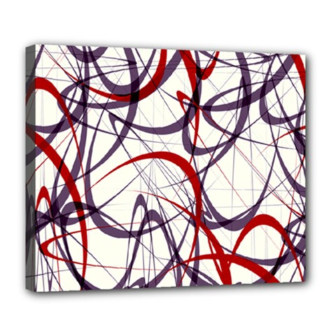 Purple Red Deluxe Canvas 24  x 20
