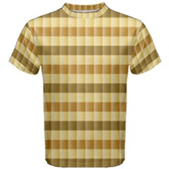 Pattern Grid Squares Texture Men s Cotton Tee