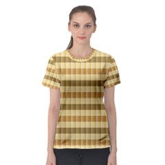 Pattern Grid Squares Texture Women s Sport Mesh Tee