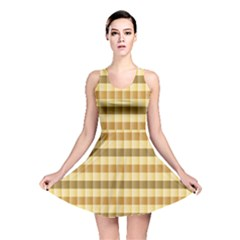 Pattern Grid Squares Texture Reversible Skater Dress