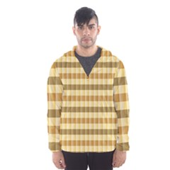 Pattern Grid Squares Texture Hooded Wind Breaker (Men)