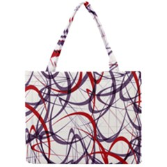 Purple Red Mini Tote Bag