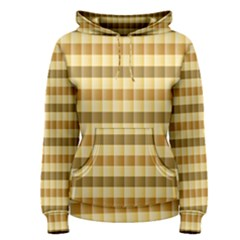 Pattern Grid Squares Texture Women s Pullover Hoodie