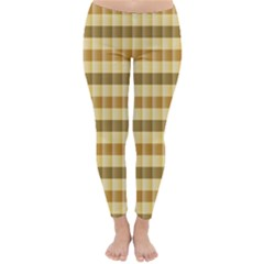 Pattern Grid Squares Texture Classic Winter Leggings