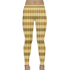 Pattern Grid Squares Texture Classic Yoga Leggings