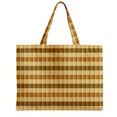 Pattern Grid Squares Texture Zipper Mini Tote Bag