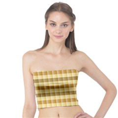 Pattern Grid Squares Texture Tube Top