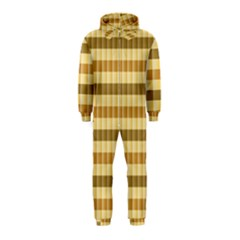 Pattern Grid Squares Texture Hooded Jumpsuit (kids)