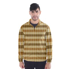 Pattern Grid Squares Texture Wind Breaker (men)