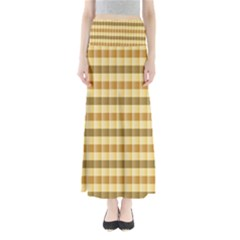 Pattern Grid Squares Texture Maxi Skirts