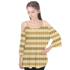 Pattern Grid Squares Texture Flutter Tees