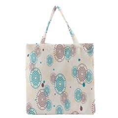 Small Circle Blue Brown Grocery Tote Bag