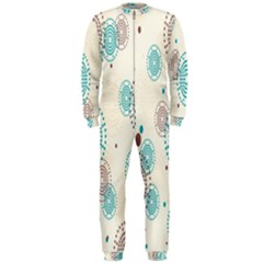Small Circle Blue Brown OnePiece Jumpsuit (Men)