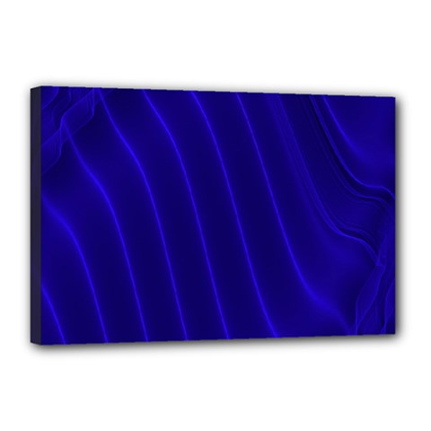 Sparkly Design Blue Wave Abstract Canvas 18  x 12